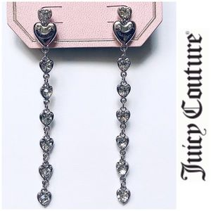 NWT Juicy Couture Dangling faux diamond earrings